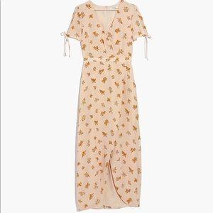 Madewell silk wrap maxi dress 00 in Field Bouquet